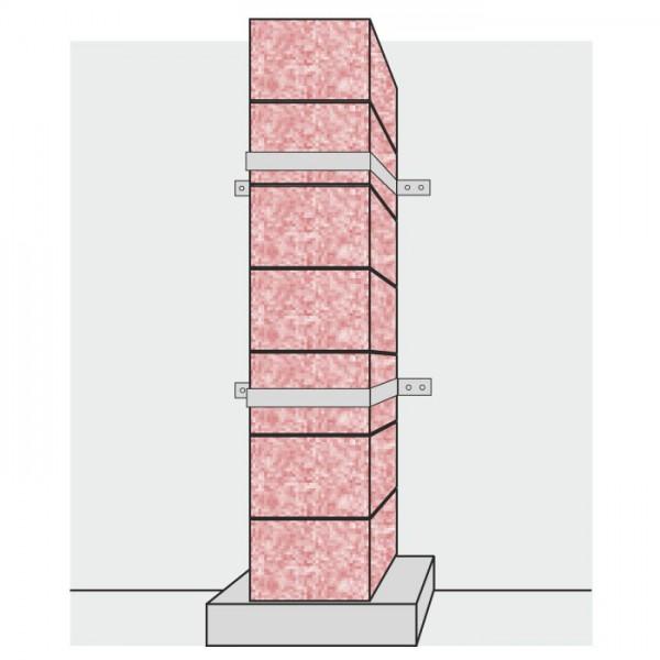 Wandhalter für Außenwandmontage