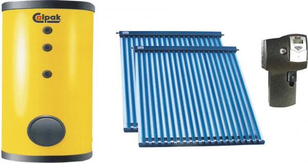Solarthermie Komplettpaket mit CPC-Vakuumröhrenkollektor 16 VTS 500