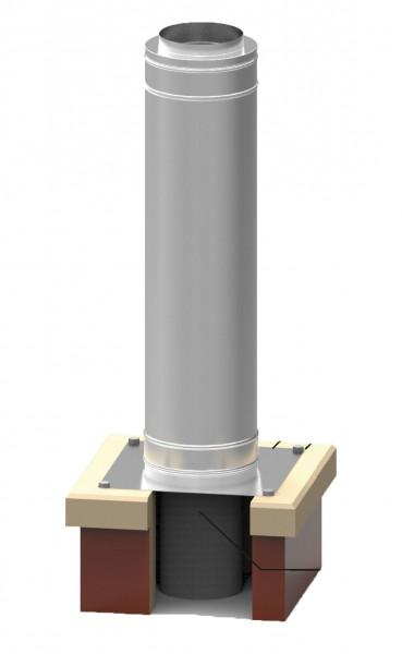 Edelstahl-Schornsteinverlängerung doppelwandig