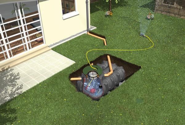 Graf Platin Regenwasser Flachtank 7500 L